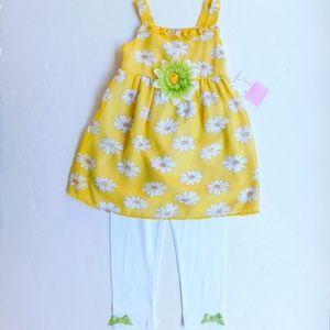 Sophie Rose 3T Floral Spring Dress Legging Set NWT